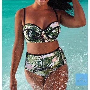 High waisted underwire bikini